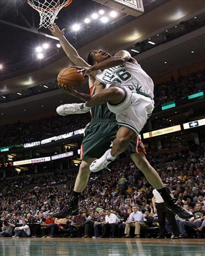 Boston Celtics power forward Sean Williams