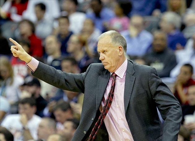 Philadelphia 76ers head coach Doug Collins
