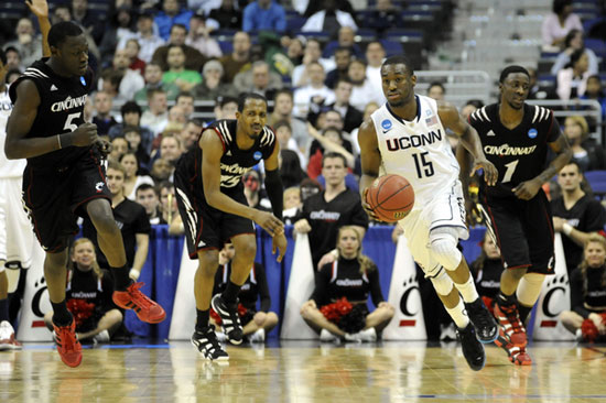 kemba walker images. Huskies guard Kemba Walker