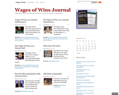 Wages of Wins